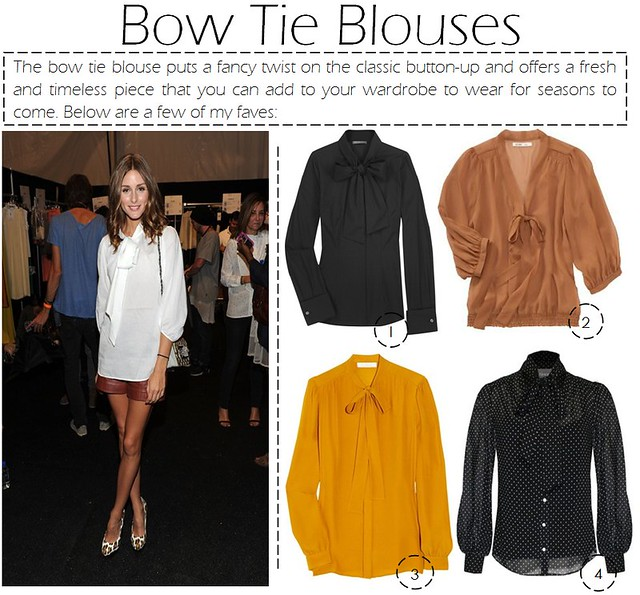 bow tie blouses