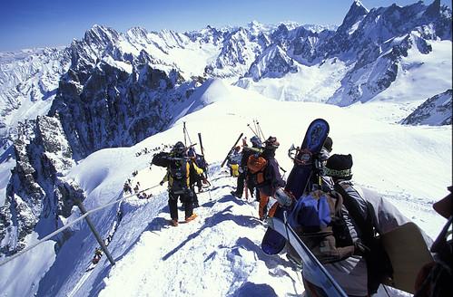 Top of the Valley Blanche run, Chamonix