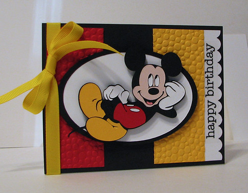 Scrapping Mommy Mickey Birthday Theme With The Cricut