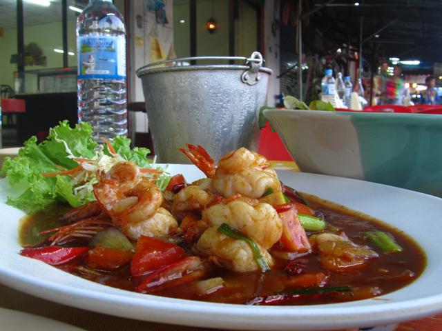 Goong Pad Prik Pao กุ้งผัดพริกเผา