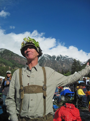 Hops King at Telluride Blues and Brews in Alpen Schatz Attire by Alpen Schatz - Mary Dawn DeBriae