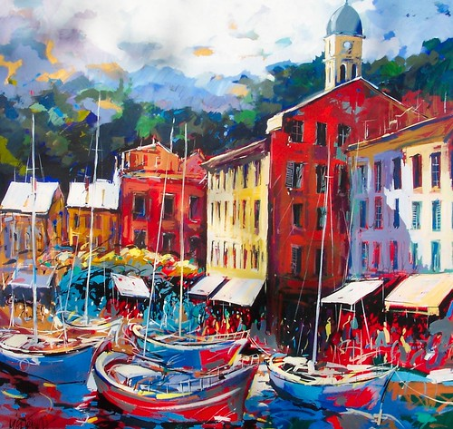Portofino  Painting  Original
