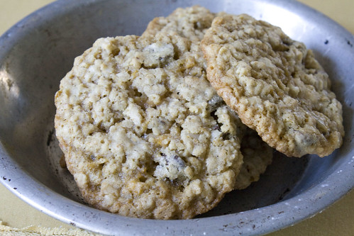 For cookies that get devoured in minutes with a teenage crowd Crunchy Cowboy Oatmeal Cookies
