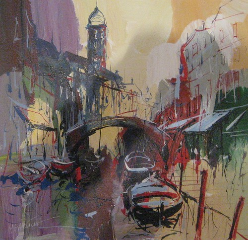 Evening in Venice  - Painting - Original