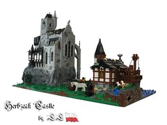 Herbzcak castle ('LL') Tags: horse mountain tree castle classic church rock port army lego fort scout weapon sword knight ll lolino gearcs