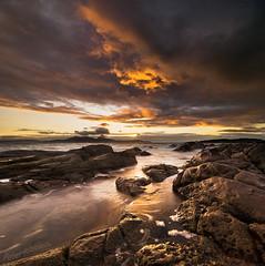 Portencross 20-9-2011 (Peter Ribbeck) Tags: sunset seascape scotland bravo arran ayrshire seamill portencross westkilbride littlecumbrae vertorama tokina1116mm peterribbeck