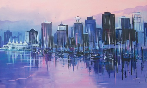 Vancouver City - Painting - Modern Impressionsim