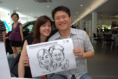Caricature live sketching for Performance Premium Selection first year anniversary - day 3 - 7