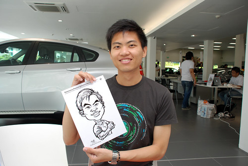 Caricature live sketching for Performance Premium Selection first year anniversary - day 4 - 1