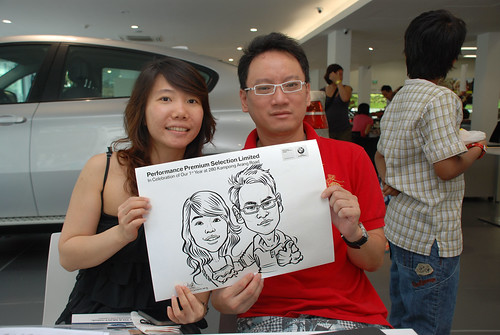 Caricature live sketching for Performance Premium Selection first year anniversary - day 4 - 16