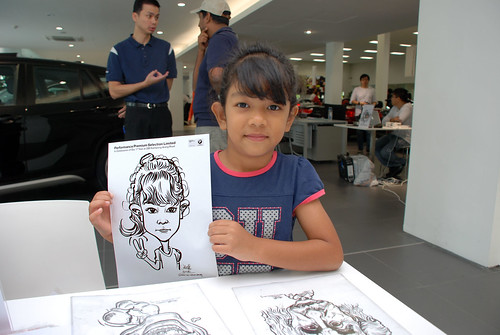 Caricature live sketching for Performance Premium Selection first year anniversary - day 3 - 3