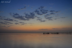 Cloudy Dawn (MJ_ALFeeli) Tags: blue sea clouds dawn fishing nikon cloudy kuwait d7000