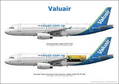 Valuair Airbus A320 Custom Aircraft Art 9V-VLB 9V-VLC (AirlinersIllustrated.com) Tags: las art illustration plane de airplane paint à arte drawing kunst aircraft aviation illustrated profile jet airline da avião scheme flugzeug avión airliner lart avion airliners ligne aviação aircrafts avions vliegtuig jetliner livery flugzeuge aviación aviões pasajeros jato vliegtuigen aerolíneas maatschappij laviation luchtvaart reacción aeronaves réaction straalvliegtuig aéronefs airlinerart lijnvliegtuigen 旅客機旅客機アート航空機の民間航空機の航空会社の飛行機の航空機のジェット旅客機