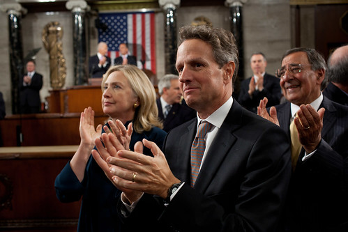 Hillary and Timothy Geithner