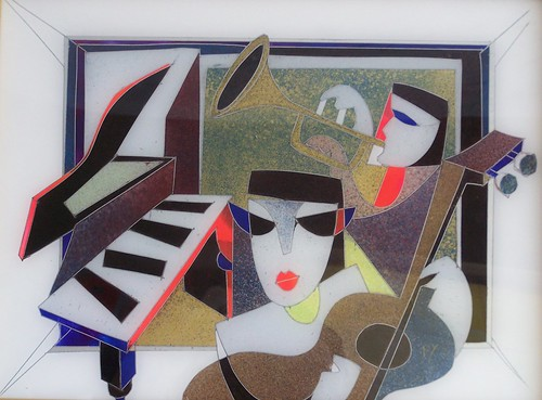 The Musicians - Painting - Reverse painted