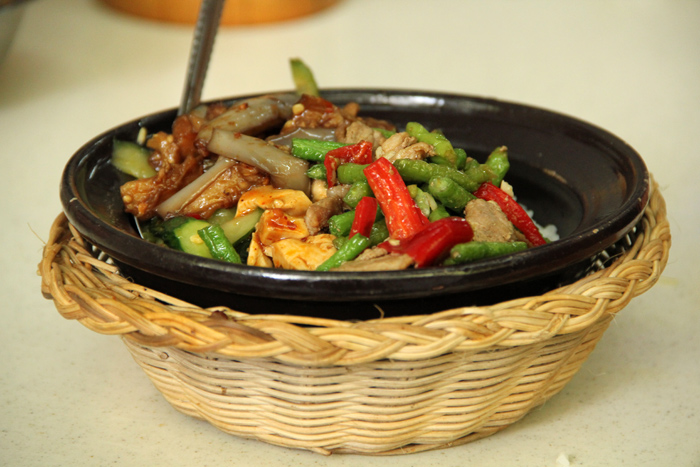 Clay Pot Rice and Toppings