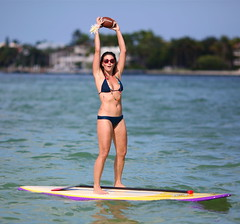 It's Football Season, Key Biscayne, FL (MaydayRelay) Tags: girls football miami sandbar monica boatparty keybiscayne paddleboard 135mmf2 5dmarkii mashtaflats
