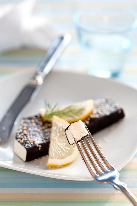 """Vegetarian """"fish"""" (paneer and nori)"""