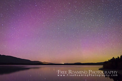 Northern Lights Over Jackson Lake (Free Roaming Photography) Tags: light sky usa mountain lake mountains west color reflection water night stars star solar nationalpark reflect western northamerica wyoming moran grandteton jacksonhole northernlights auroraborealis grandtetonnationalpark jacksonlake auroras glaciallake phenomenom