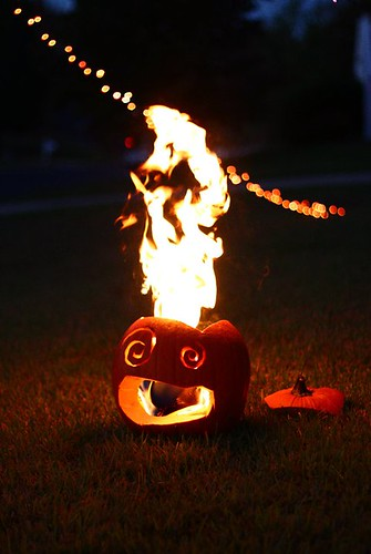Flaming Pumpkins!