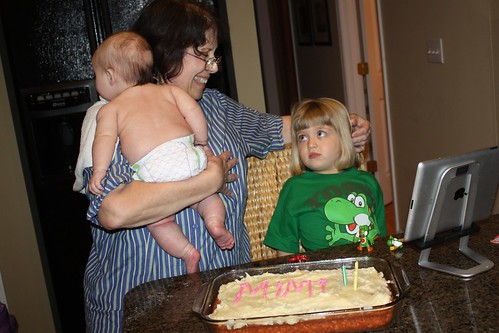 Mimi & her grandbabies on her birthday