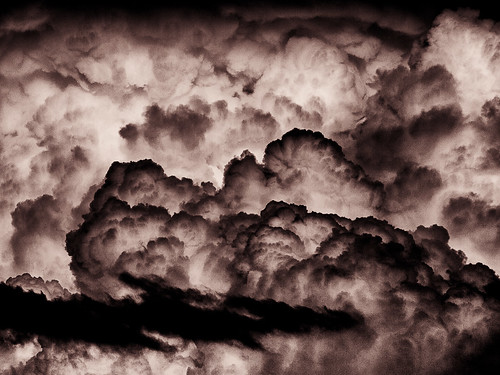 Thunderheads Black and White
