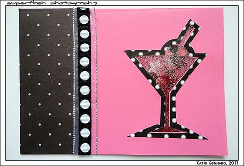 Bachelorette Martini Card