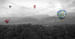 Le Ddale D'Icare * (larbinos) Tags: france noir pentax air ballon chartreuse vol blanc coupe mongolfire k5 aile parapente icare albin coupeicare crolles dedale larbinos