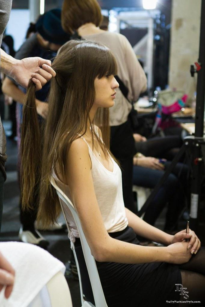 Backstage @ Lutz Ready To Wear Paris Fashion Week S/S 2012