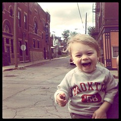 happy walking baby