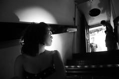 L'attrazione della luce. (Angelica Gallorini) Tags: light bw film scale girl bn bunker short firenze filming luce ragazza climbs profilo riprese cortometraggio