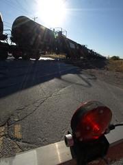 20111001_091639_0129 (Electroburger) Tags: railroad silhouette texas bnsf ethanol saginaw tankcars