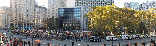 Panorama of Foley Square #OccupyWallStreet