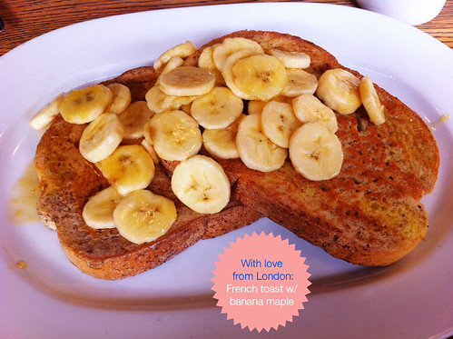 French toast w/ banana maple