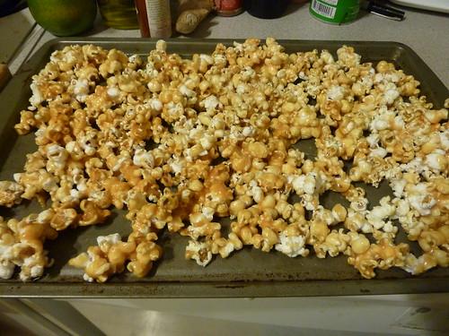 Cayenne-Caramel Popcorn