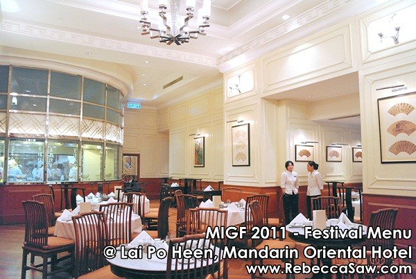 MIGF 2011 - Lai Po Heen, Mandarin Oriental