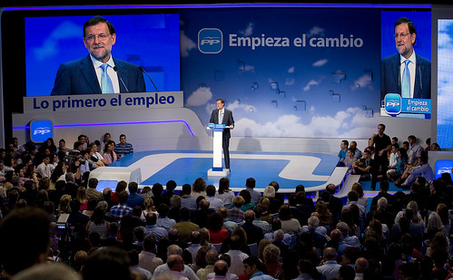 Mariano Rajoy en el Congresod el PP
