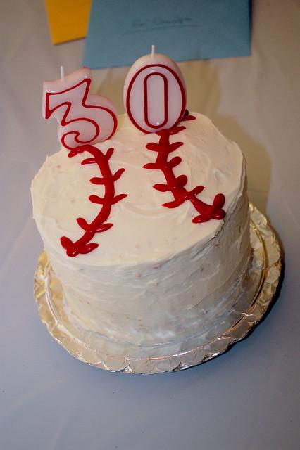 My Hubby's Baseball Cake