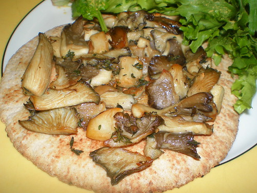 Wild Mushroom Pizza with Garlic and Fresh Thyme