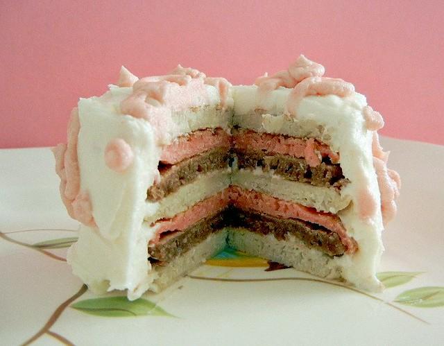 neapolitan pancake cake