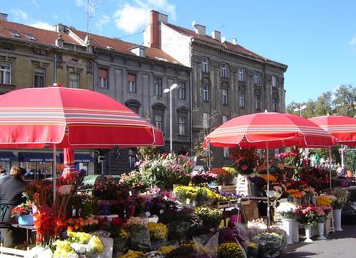 Kukkatori Zagrebissa by Anna Amnell