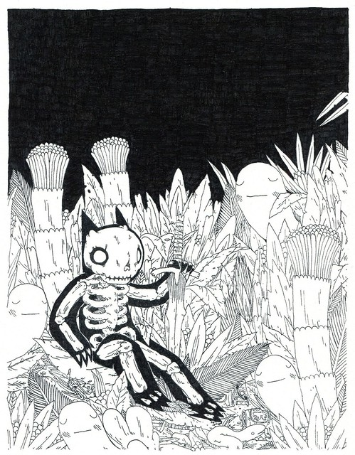 Skeleton in Jungle