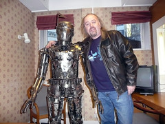 Bill and Boba Fet (Bill Bailey's World) Tags: sculpture metal funny 2006 bbc comedian backstage billbailey bobafet nevermindthebuzzcocks