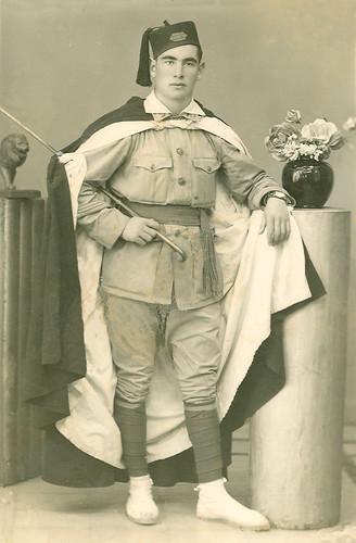 Antonio Magallon cuando hacia  el servicio militar en Melilla