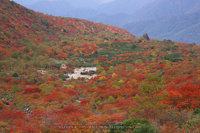 Ubaga-<br />daira in colored season, Mt.Chausu-dake