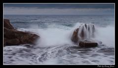 sunrise  - forresters beach15-10-11_095-Framed (DoctorJ73) Tags: sun beach water sunrise canon eos james coast rocks waves central 7d danny sundance splash cocean forresters