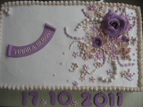 güllü nişan pastası 010