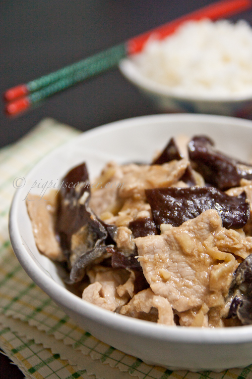 Stir-Fried Pork with Ginger and Black Fungus