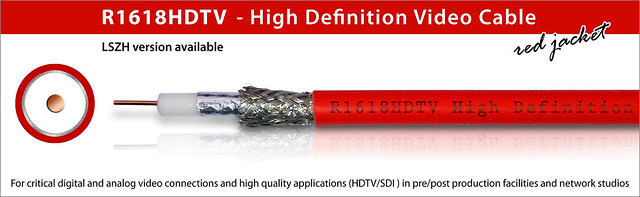 R1618HDTV - High Definition Video Cable (red jacket)