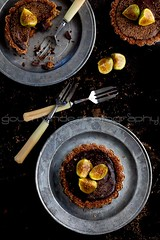 Chocolate Fig Tarts | Fresh Figs in Good Company (Gourmande in the Kitchen) Tags: food dessert chocolate pastry tarts figs foodphotography chocolateganache freshfigs chocolatetarts figtarts dessertforks gourmandephotography gourmandeinthekitchen sylvieshiraziphotography chocolatecoconutmilkganache